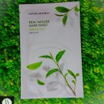 nature republic green tea mask, nature republic green tea sheet mask, nature republic green tea mask review, nature republic green tea face mask, masker nature republic green tea, kegunaan masker nature republic green tea, nature republic real nature green tea mask,